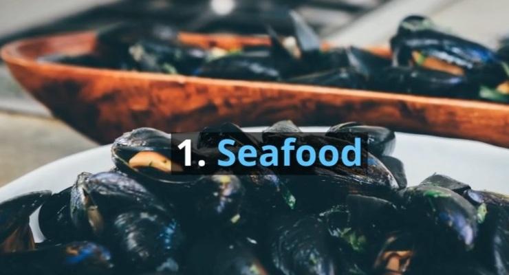 1. Seafood