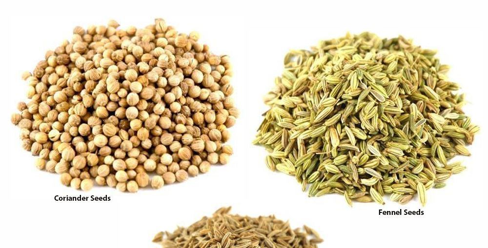 Fennel seeds and Coriander seeds