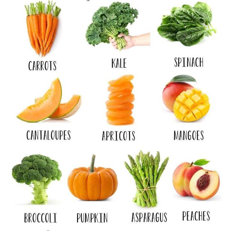 Foods rich in Beta-carotene
