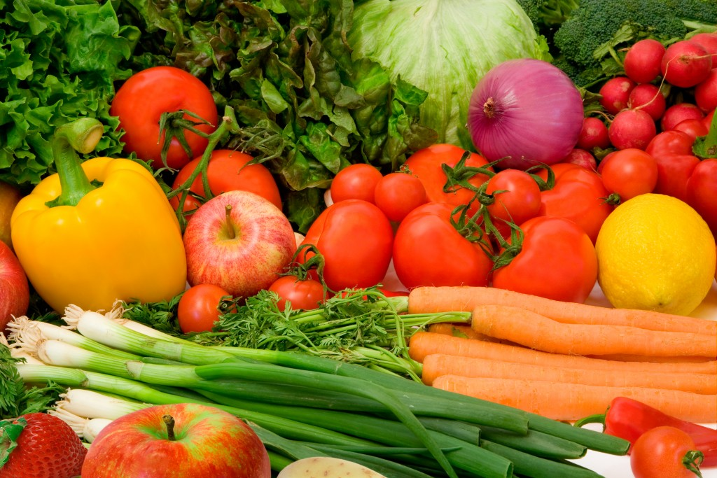 Green Leafy Vegetables and Fruits