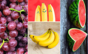 Health Benefits of Common Fruits: Banana, Grapes, and Watermelon